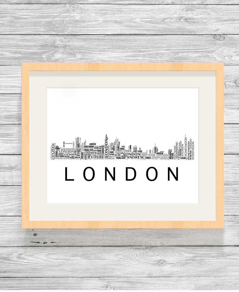 Personalised London Skyline Word Art Print - Show It With Words