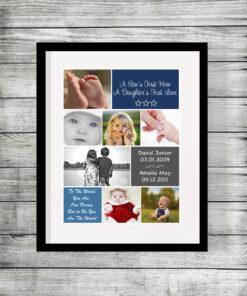Bespoke Personalised Dad Photo Collage Print