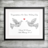 Bespoke Personalised Doves Word Art Print