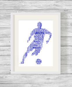 Bespoke Personalised Footballer Word Art Print