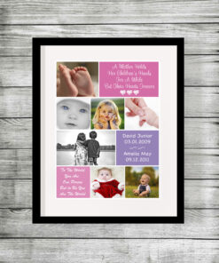 Bespoke Personalised Mum Collage Print