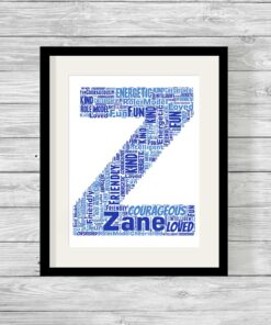 Bespoke Personalised Alphabet Letter Word Art Print