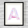 Bespoke Personalised Alphabet Word Art Print