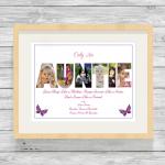 Auntie Pink Oak Frame