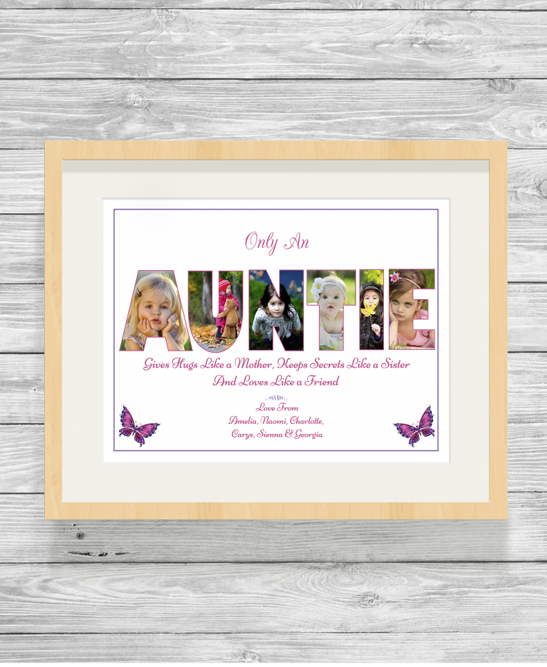 Bespoke Personalised Auntie Photo Collage Prints