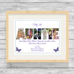 Auntie Purple Oak Frame