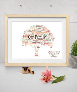 Family Tree Design Personalised Word Art Print