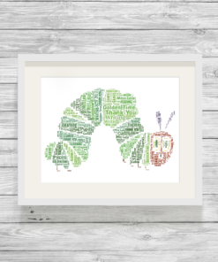 Bespoke Personalised Caterpillar Word Art Print