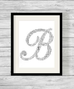 Personalised word art category show it with words alphabet shape design personalised word art print gumiabroncs Images