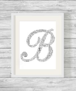 Alphabet Shape Design Personalised Word Art Print