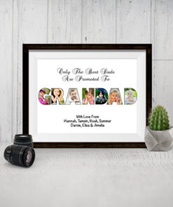 Bespoke Personalised Grandad Photo Collage Print