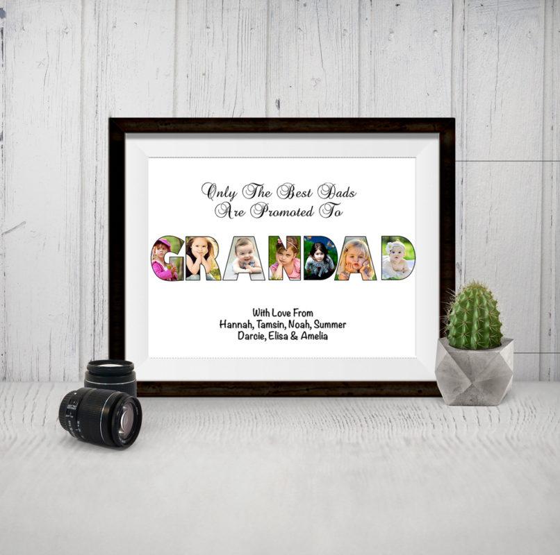 Bespoke Personalised Grandad Photo Collage Print
