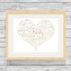 Fancy Heart Design Personalised Word Art Print