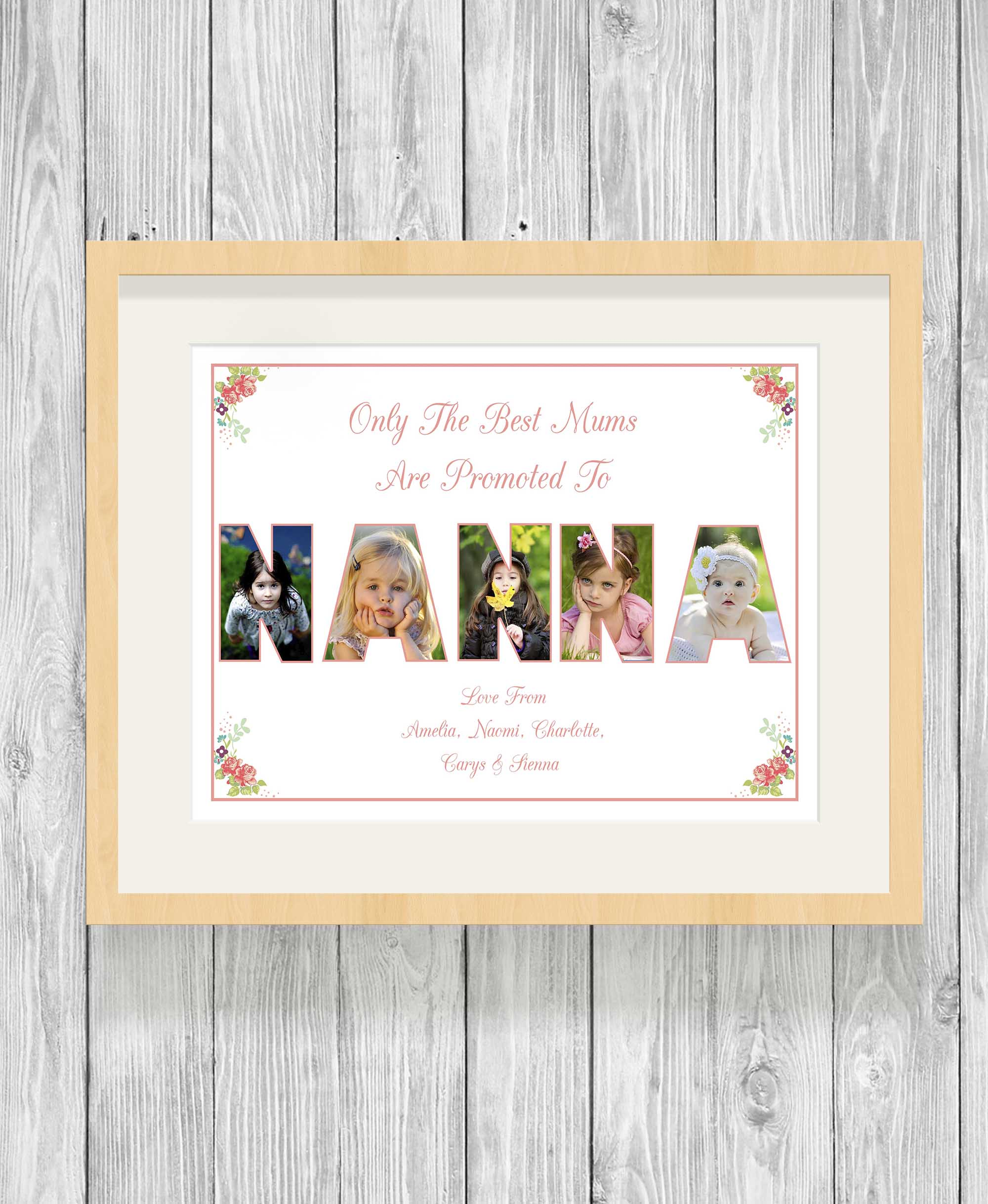 Bespoke Personalised Nanna Photo Collage Prints