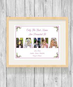 Bespoke Personalised Nanna Photo Collage Prints