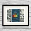 Bespoke Personalised Rainbow Baby Photo Collage Print