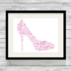 Bespoke Personalised Shoe Word Art Print
