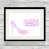 Bespoke Personalised Shoe and Handbag Word Art Print