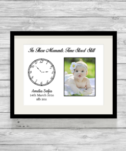 Bespoke Personalised In These Moments Time Stood Still Print