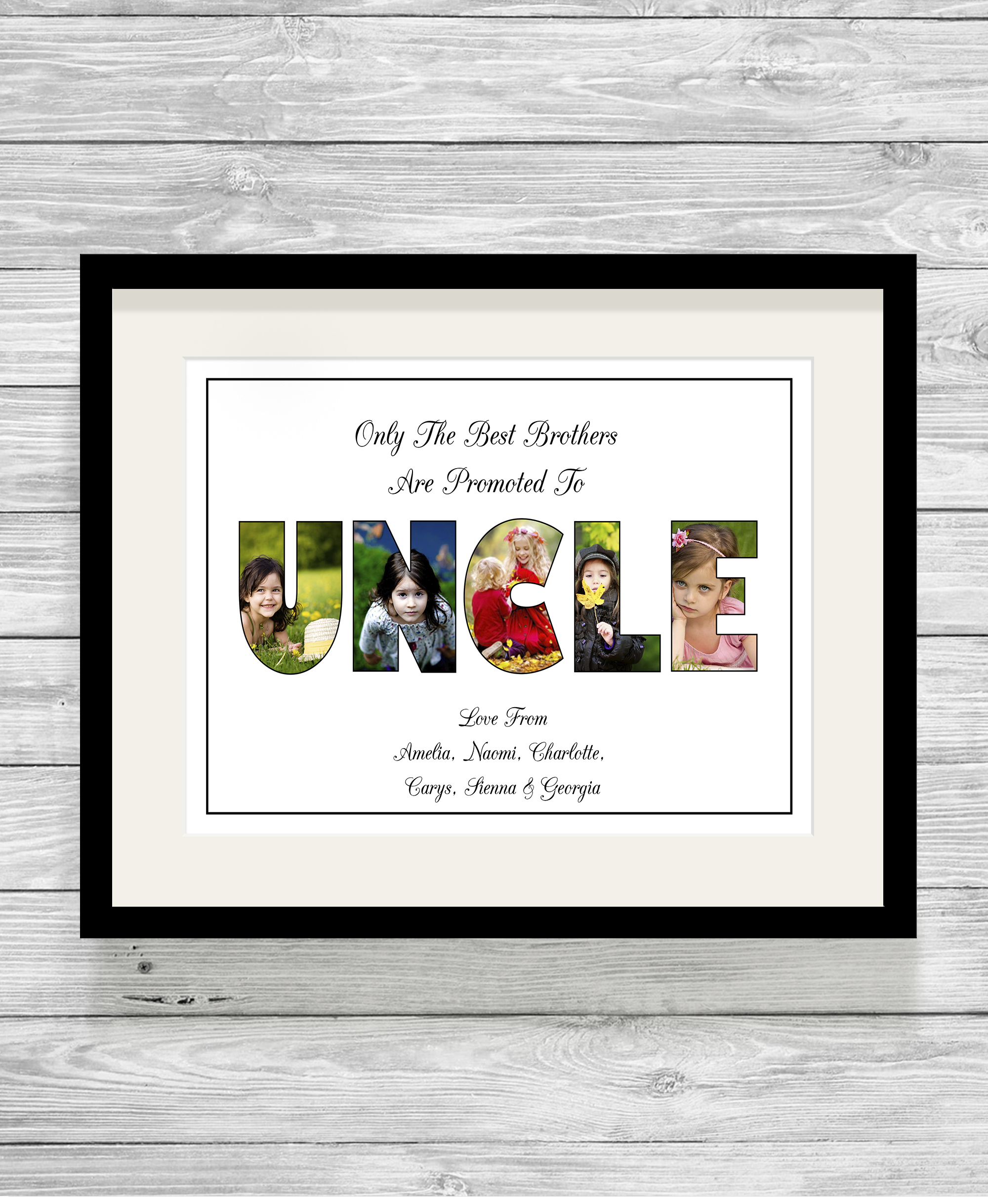 Bespoke Personalised Uncle Photo Collage Print