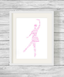 Personalised Bespoke Ballerina Word Art Print