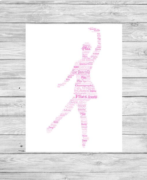 Personalised Bespoke Ballerina Word Art Print