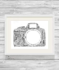 Personalised Bespoke Camera Photography Word Art Picture Gift