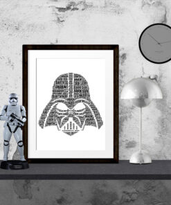 Bespoke Personalised Darth Vader Word Art Print