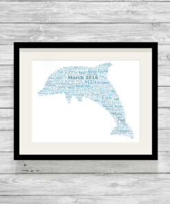 Personalised Bespoke Dolphin Word Art Print Gift