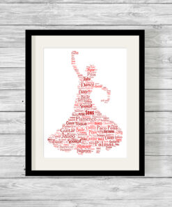 Personalised Bespoke Flamenco Word Art Print