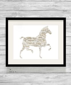 Bespoke Personalised Horse Word Art Print