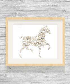 Bespoke Personalised Horse Word Art Print