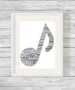 Personalised Bespoke Music Word Art Print