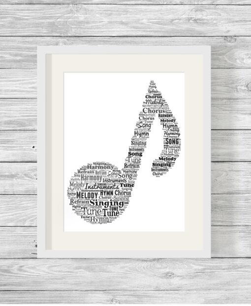 Personalised Bespoke Music Word Art Print