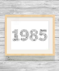 Bespoke Personalised Special Year Word Art Print