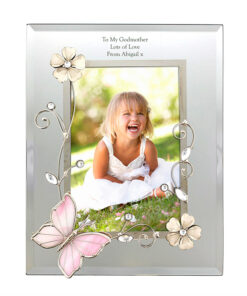 Personalised Mirrored Butterfly Photo Frame