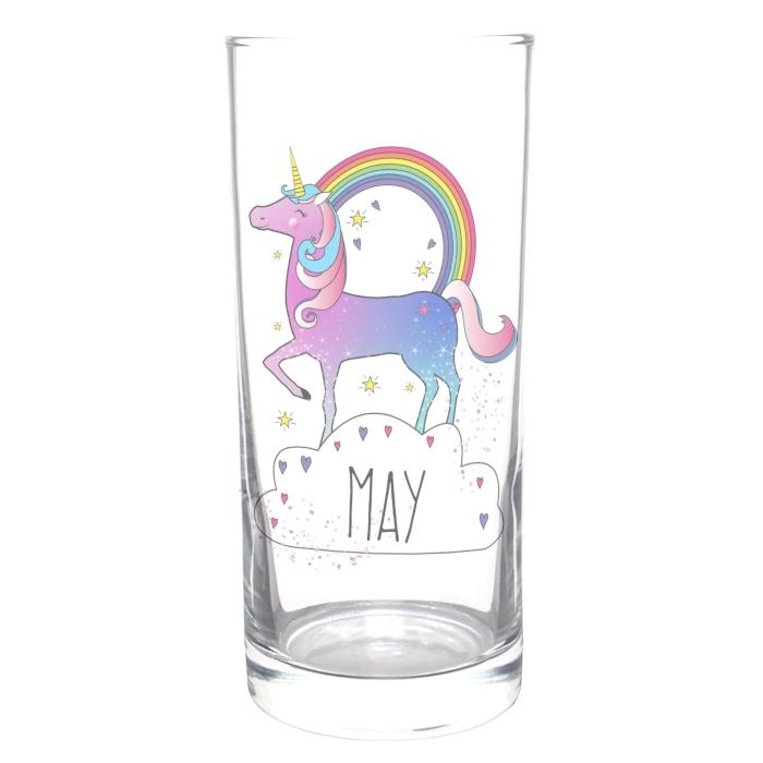 Personalised Magical Unicorn Hi Ball Glass