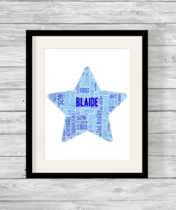 Bespoke Personalised Star Word Art Print