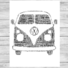 Bespoke Personalised Camper Van Word Art Print
