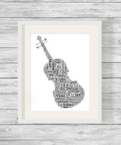 Bespoke Personalised Viola Word Art Print