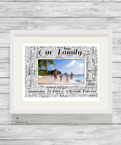 Personalised Bespoke Family Photo Word Art Print