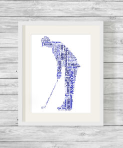 Personalised Bespoke Golfer Word Art Print
