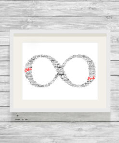 Personalised Infinity Word Art Cloud Picture Gift