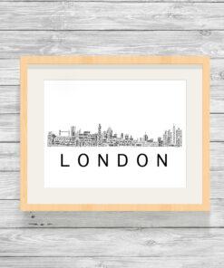 Personalised London Skyline Word Art Print