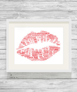Personalised Bespoke Kiss Word Art Print