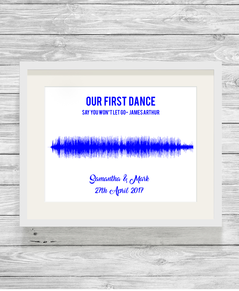 Personalised Song Soundwave Typography Gift Print - Show It With Words