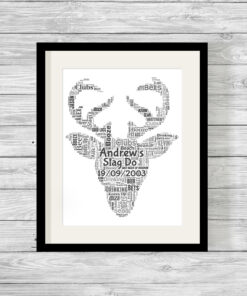 Personalised Bespoke Stag Do Word Art Print