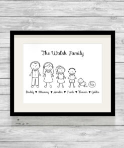 Personalised Stick Family Picture Print