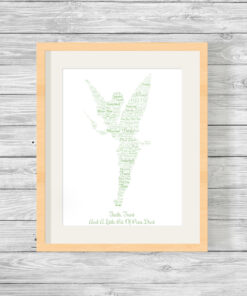 Personalised Bespoke Tinkerbell Word Art Picture