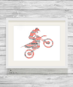 Personalised Bespoke Motocross Word Art Print Picture
